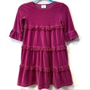 Hanna Andersson Velour Tulle Tiered Playdress